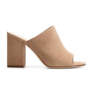"M. Gemi suede ""The Noto"" block heel mules"